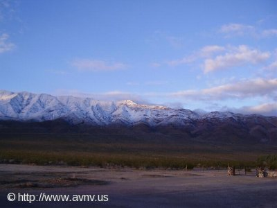 Snow in the Funeral Mountains